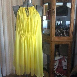 NWT Susana Monaco Yellow Silk Dress 4